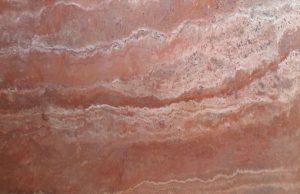 سنگ تراورتن قرمز اصفهان موج دار درجه یک