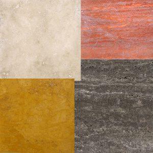 سنگ تراورتن دارای چه زمینه های رنگی می باشند